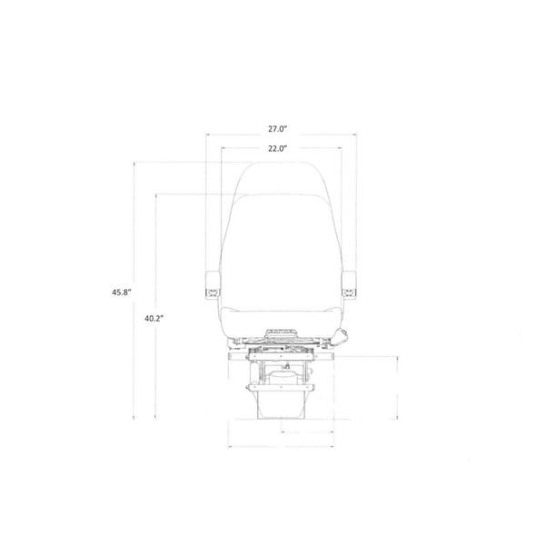 Sears Atlas II DLX Seat Highback  Dimensions