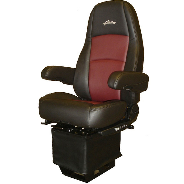 Sears Atlas II DLX Seat Highback Black & Red Leather With Arm Rests