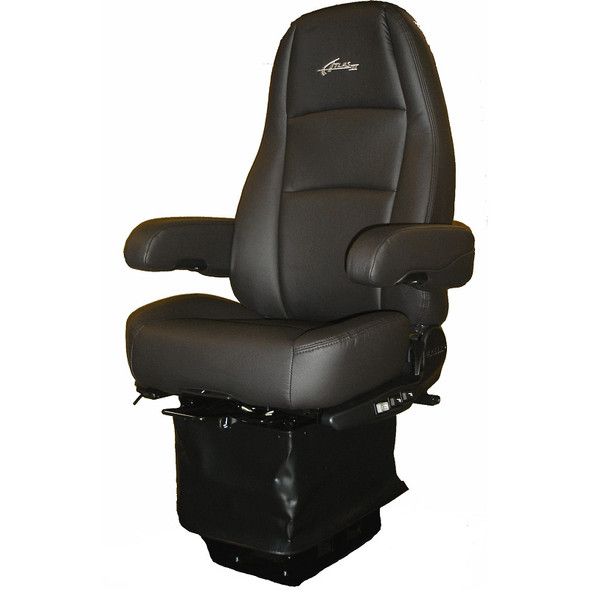 Sears Atlas II DLX Seat Highback Black Ultra Leather With Arm Rests