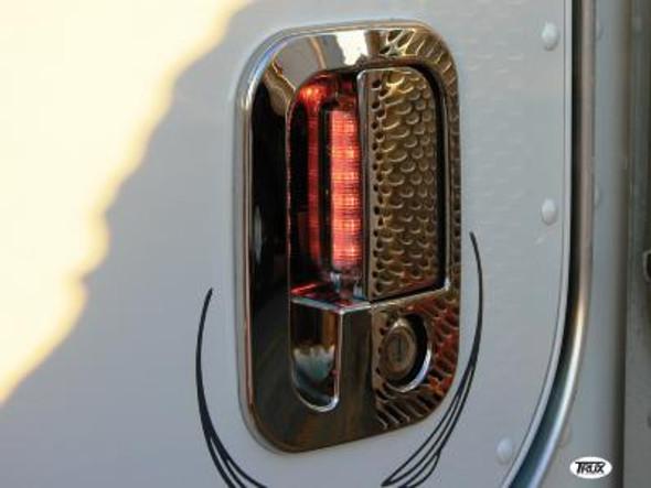 Door Handle Cover For Peterbilt & Kenworth With 6 Red LEDs On Door