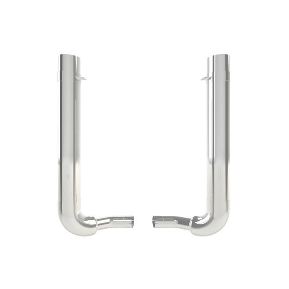 """Kenworth W900B 8"""" Dynaflex Chrome Exhaust Kit With Exhaust Stack Options"""