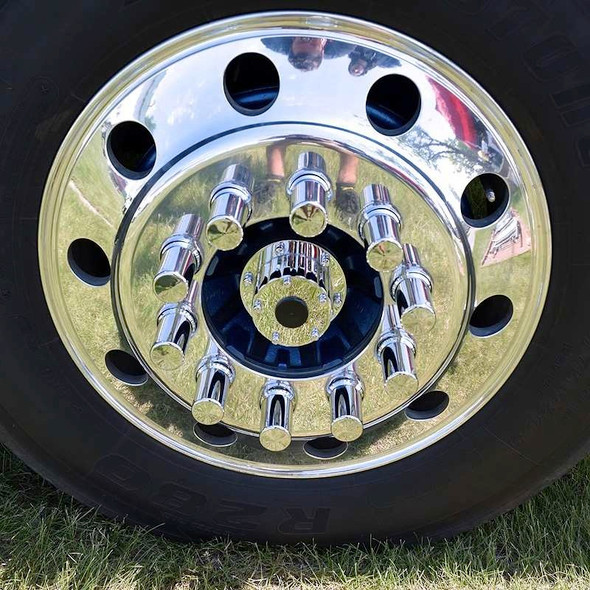 Chrome Front Hub Oil Cap Replacement Cover On Truck
