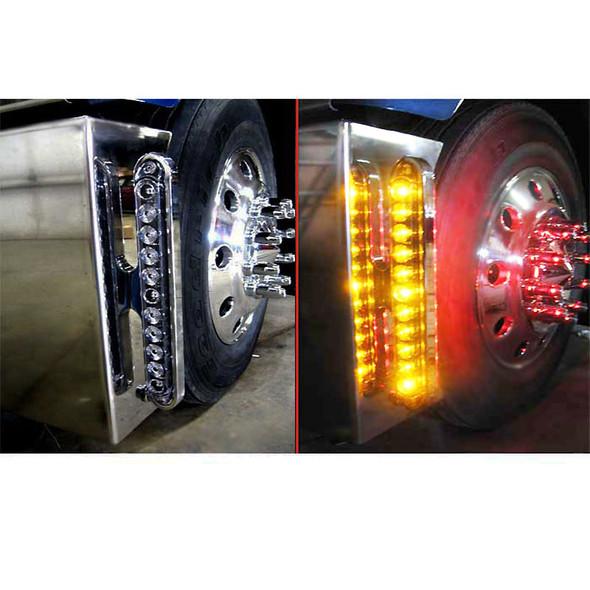 Chrome Slim Line Bumper Bracket Lights On Truck 3
