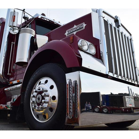 Chrome Slim Line Bumper Bracket Lights On Truck 2