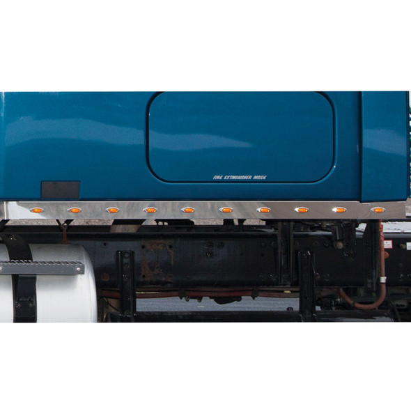 """Freightliner Cascadia 72"""" Sleeper Panel With Mini LEDs On Blue Truck"""