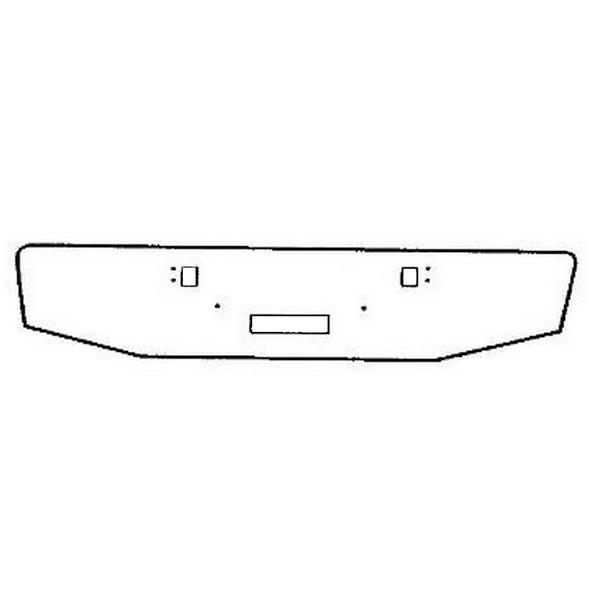 """Kenworth W900L Chrome 16"""" Standard Tapered Bumper"""