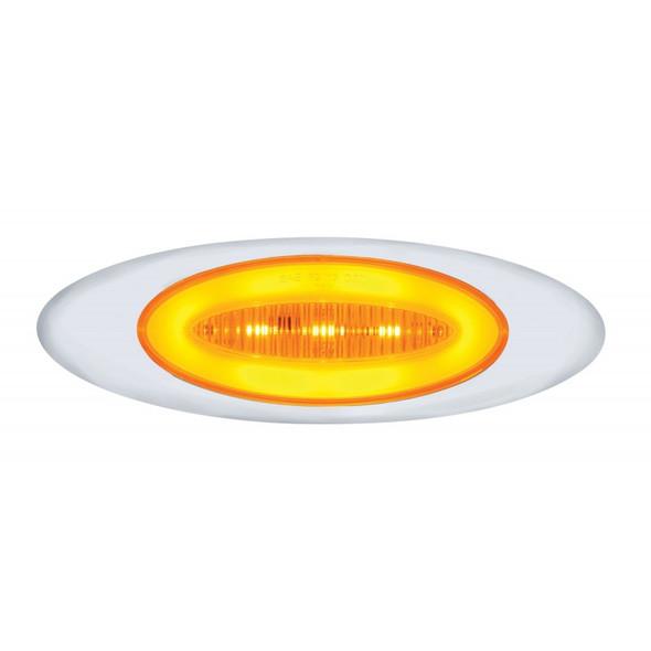 "13 LED ""Phantom I"" Clearance Marker Light With Amber LED/Lens"