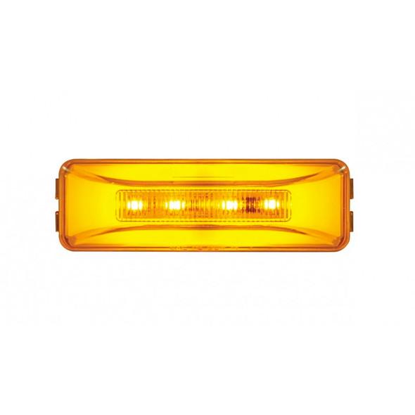 10 LED Rectangular Clearance Marker GLO Light With Amber LEDs/Amber Lens