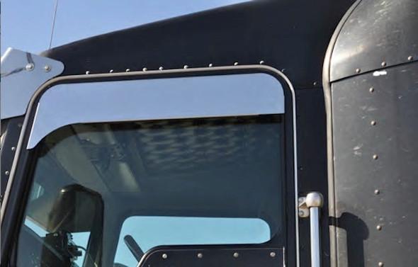 "Peterbilt 379 386 389 5"" Eagle Flange Chop Top Window Trim - On Truck"