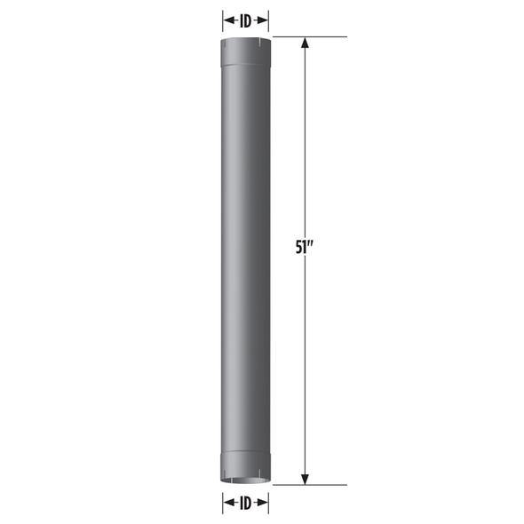 "5"" x 51"" Muffler Eliminator Measurement"