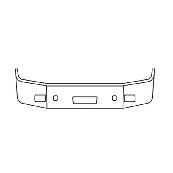 Peterbilt 384 HW & HW-SP Bumper Cutout Image