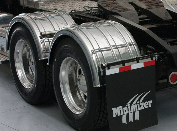 Minimizer 2260 Series Truck Chrome Poly Fenders (Installed)