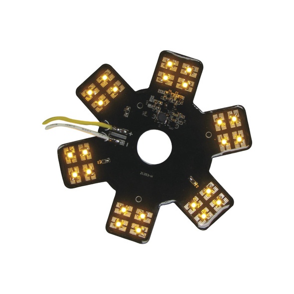 """5"""" Star With Amber LEDs For 13"""" Donaldson Air Breather"""