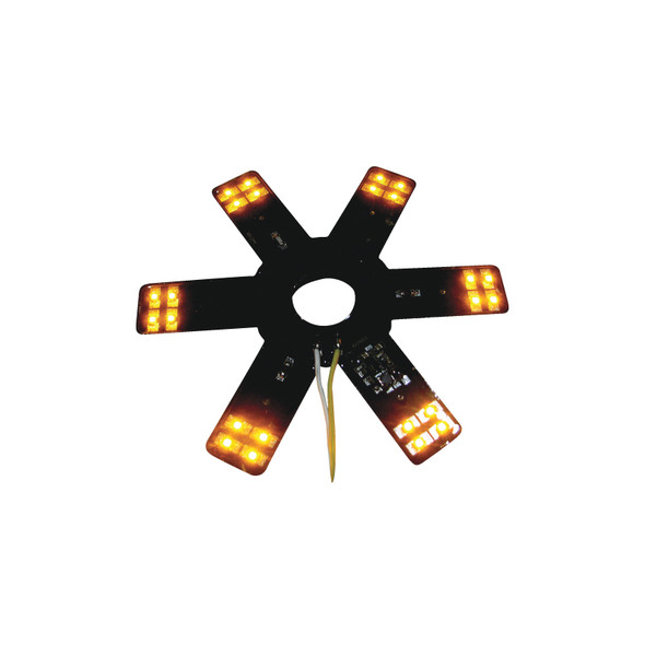 """8"""" Star With Amber LEDs For 15"""" Donaldson & Vortox Air Breather"""