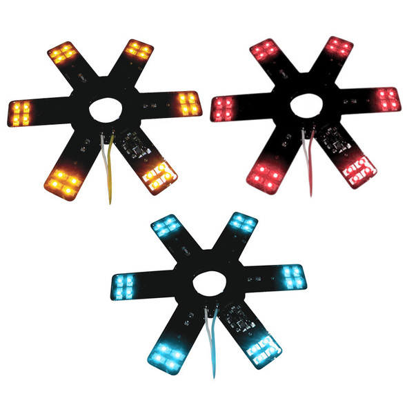 """8"""" Star With LEDs For 15"""" Donaldson & Vortox Air Breather Amber Red Blue"""