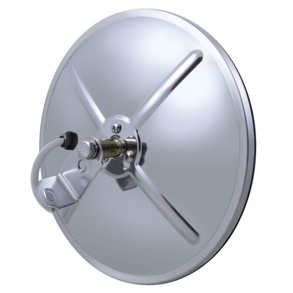 "8 1/2"" Stainless Steel Convex Heated Mirror Center Stud"
