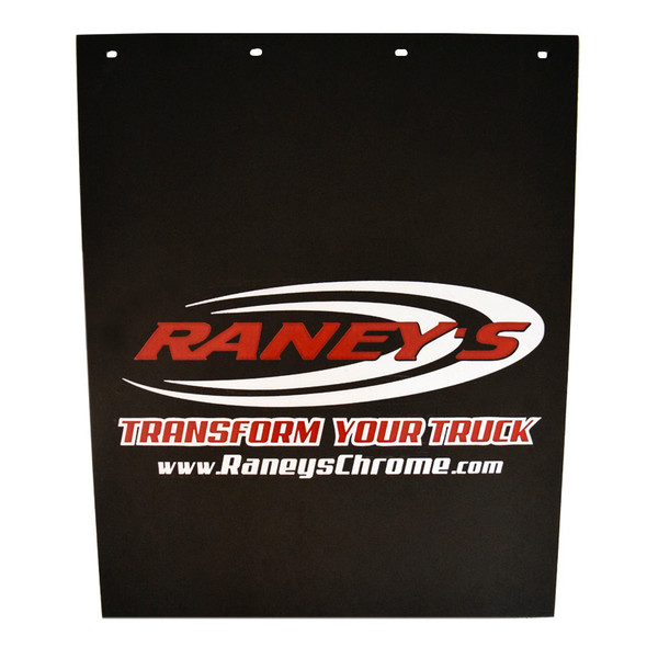 """Raney's Logo Rubber 24"""" x 30"""" Mud Flaps Angled Down"""