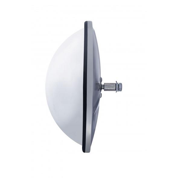 "8 1/2"" Stainless Steel Convex Fisheye Mirror Side"