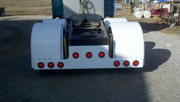 Universal Fiberglass T-Bar Rear Bumper With 9 Light Cut Outs