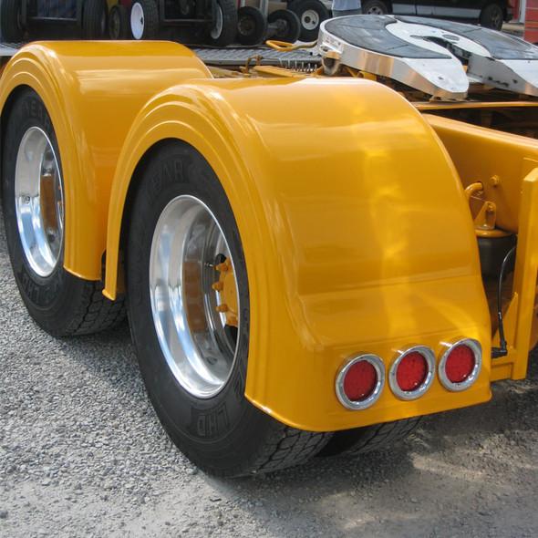 Semi Truck Fiberglass Single Axle Fender Set With Low Light Holes