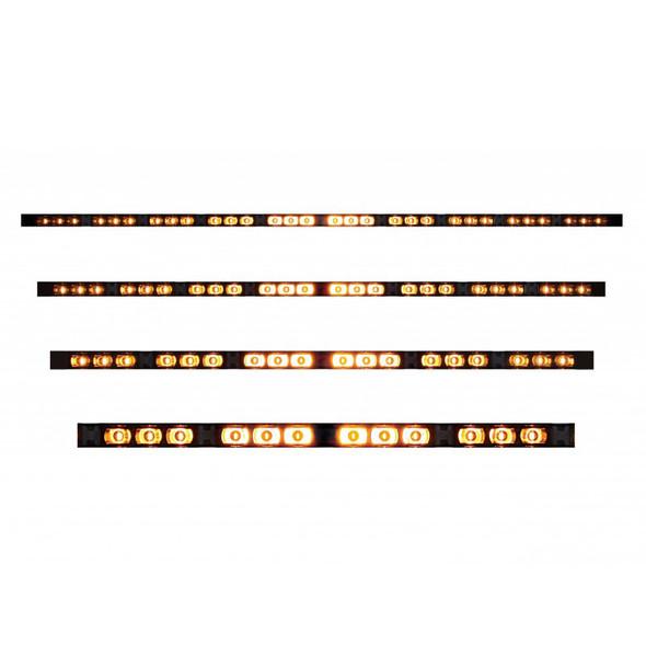 High Power LED Directional Warning Light Bar Turned On