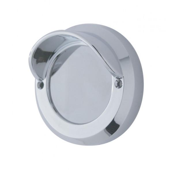 """Chrome 2"""" Mirror Light Bezel With Visor"""