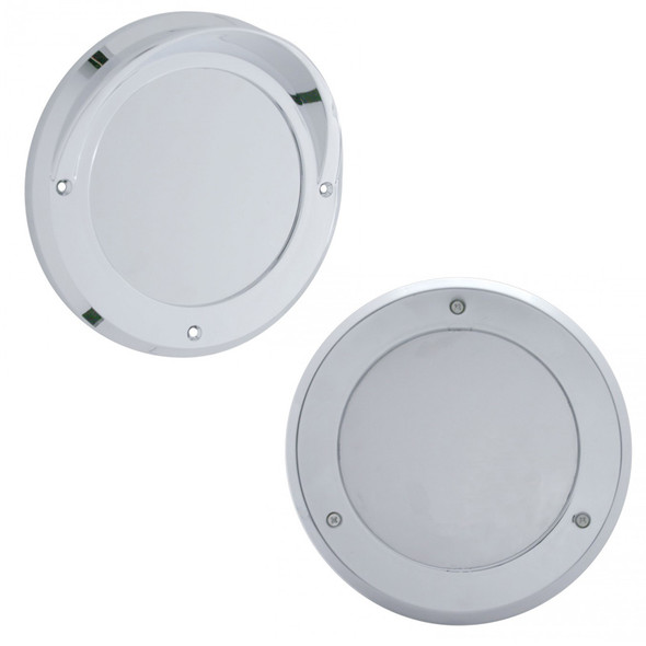 """4"""" Mirror Light Bezel With And Without Visor"""