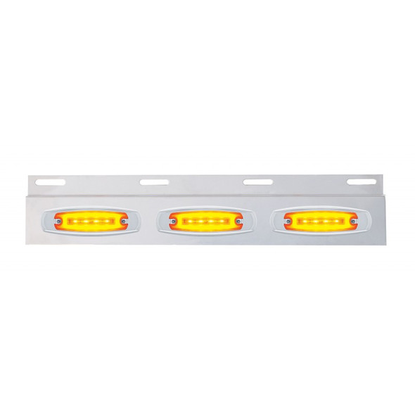 Stainless Top Mud Flap Light Bracket With Amber Clearance Marker LED Lights