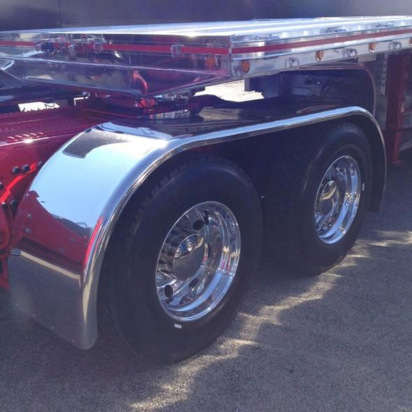 "Hogebuilt Stainless Steel 143"" Value Line Full Tandem Low Rider Fenders On Truck"