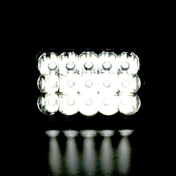 "4"" x 6"" Rectangular High Power CREE LED Headlight With Solid Glass Lens - Dark"