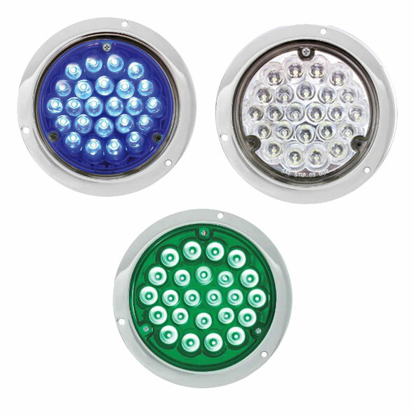 Blue Green and white 4 Inch Pearl 24 LED Lights