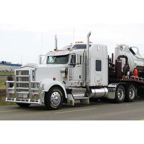 Kenworth W900L Herd Super Road Train Bumper Grill Guard With Horizontal Bars On White Truck