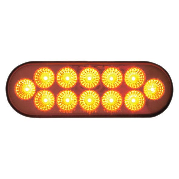Dual Revolution Oval Turn Signal And Marker LED Light With Back Up Function Amber