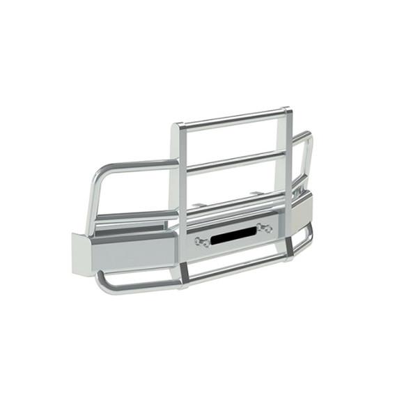Peterbilt 384 386 Herd 2 Post Defender Bumper Grill Guard With Horizontal Bars