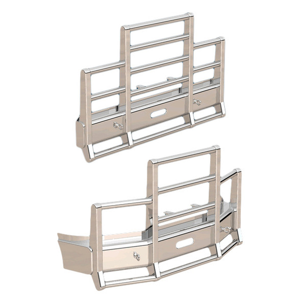 Western Star 4700 Herd 4 Post Defender Bumper Grill Guard With Horizontal Bars