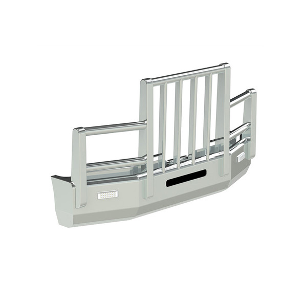 Freightliner FLD 112 Herd Aero 4 Post Bumper Grill Guard With Slam Latch And Signal Lights
