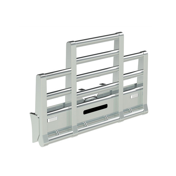 Freightliner FLD 120 SFA Herd Super Road Train Bumper Grill Guard With Horizontal Tubes, Slam Latch, and Signal Lights