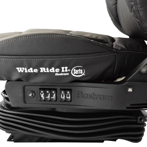 Bostrom Wide Ride II High Back Ultra Leather Serta Memory Foam Seat Base