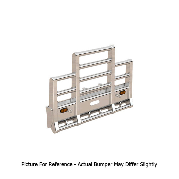 Freightliner Columbia Herd Super Road Train Bumper Grill Guard With Horizontal Bars & Signal Lights