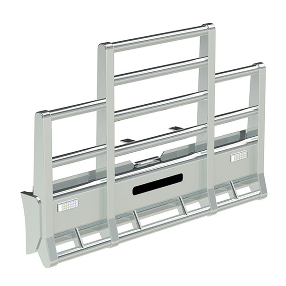 International 9300 SFA Herd Road Train Bumper Grill Guard With Slam Latch, Signal Lights and Horizontal Tubes