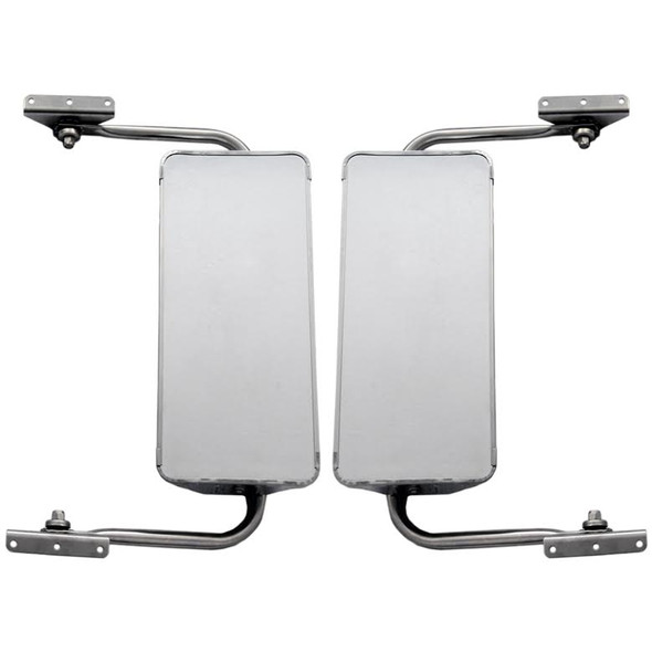 """West Coast 7"""" x 16"""" Stainless Steel Mirror With Adjustable Assembly Front View"""