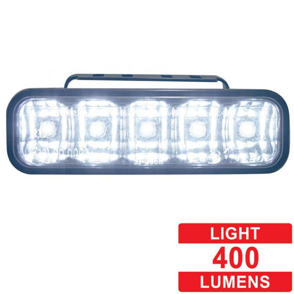 High Power LED Rectangular Auxiliary Work Light - Lumens