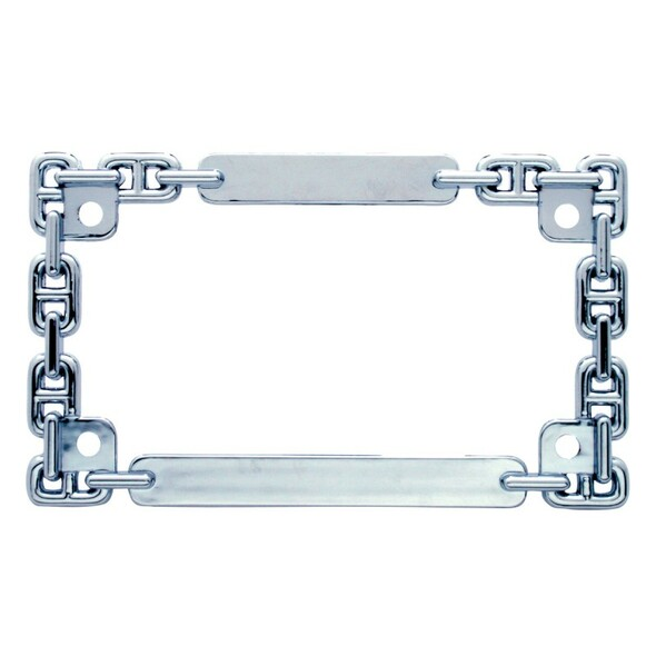 Universal Chain Link Motorcycle License Plate Frame
