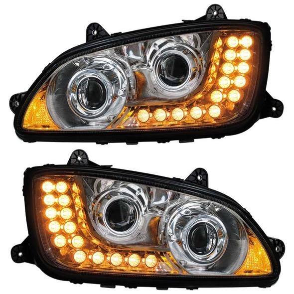 Kenworth T660 T700 Chrome Projector Headlights