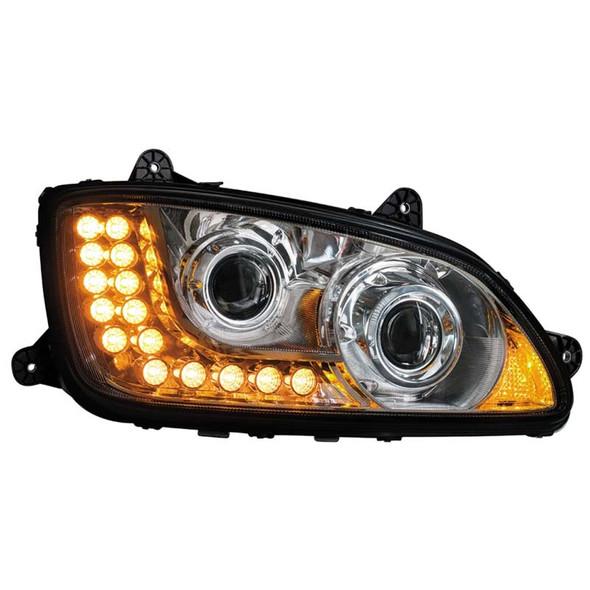 Kenworth T660 T700 Chrome Projector Passenger Side Headlight