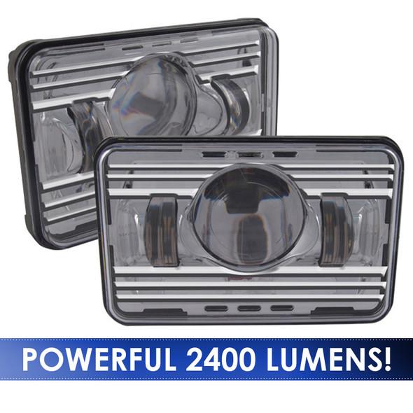 6x4 LED Projector Headlight High & Low Beam - Lumens