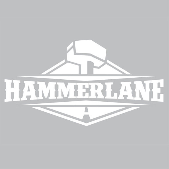 """Hammerlane Logo Decal 8"""" Gloss Vinyl"""