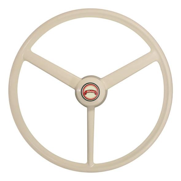 "20"" Retro Bone 3 Spoke Steering Wheel Different View"