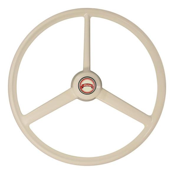 "20"" Retro Bone 3 Spoke Steering Wheel"