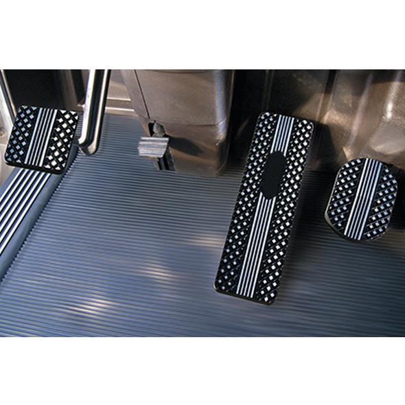 Kenworth T440 T470 T700 T800 W900 2007-2013 Black Diamond Billet Foot Pedal Set